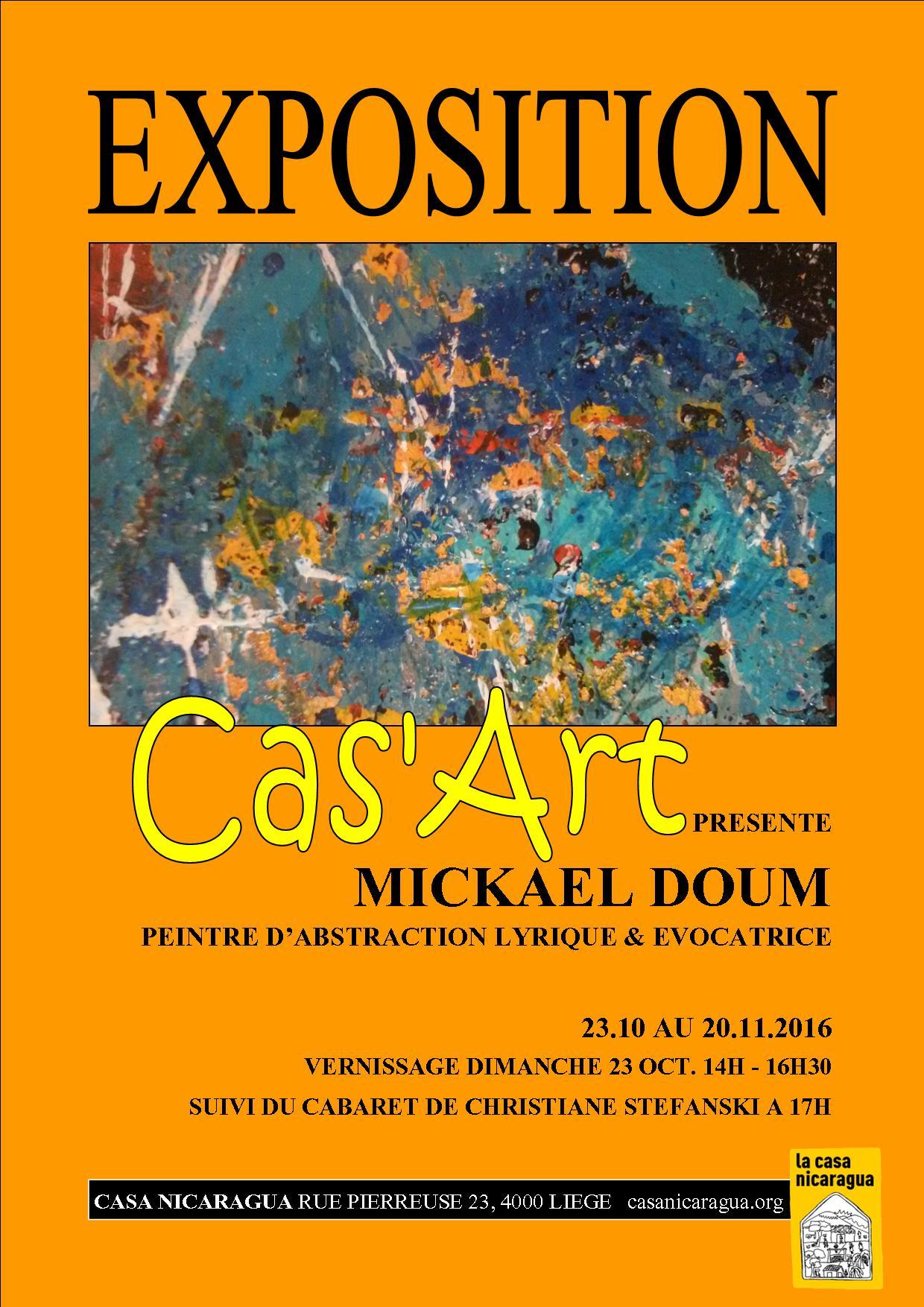 Dim. 23/10: Vernissage Cas'Art, expo de Mickael Doum
