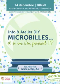 Mer. 14/12: Info et atelier DIY Microbilles… et si on s'en passait!?