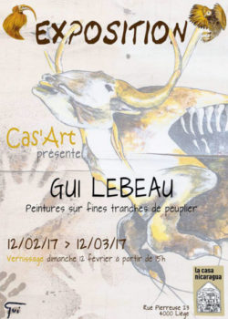 Du 12 février au 12 mars:  Exposition d'œuvres de Gui Lebeau
